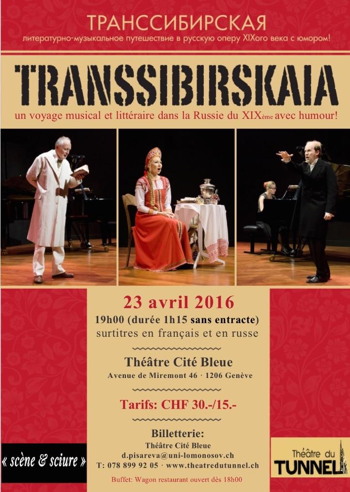 Transsibirskaia au Théâtre la Cité Bleue