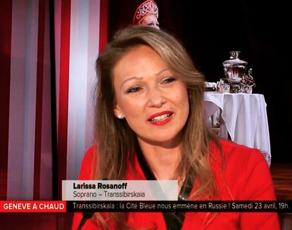 Larissa Rosanoff en direct dans «Genève à Chaud»