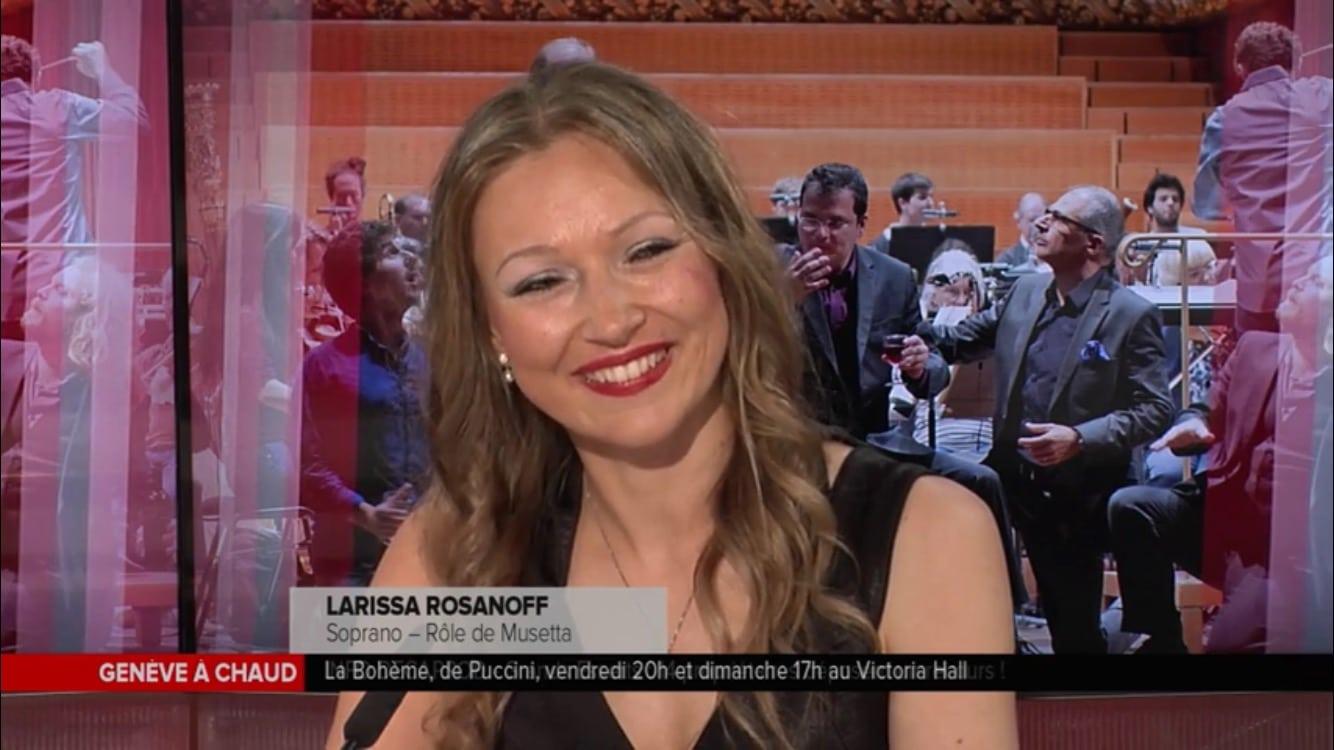 "Larissa Rosanoff – TV Leman Bleu Interview ""La Boheme"""