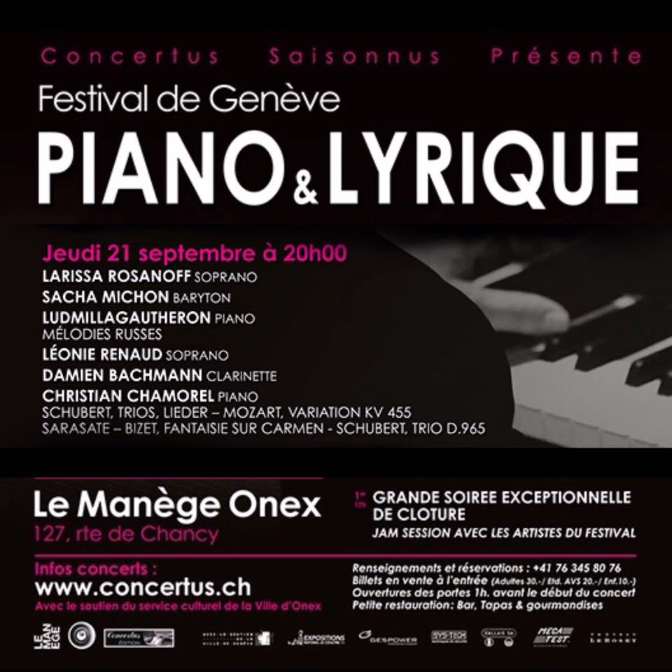 Piano and Lyrique Festival Concert