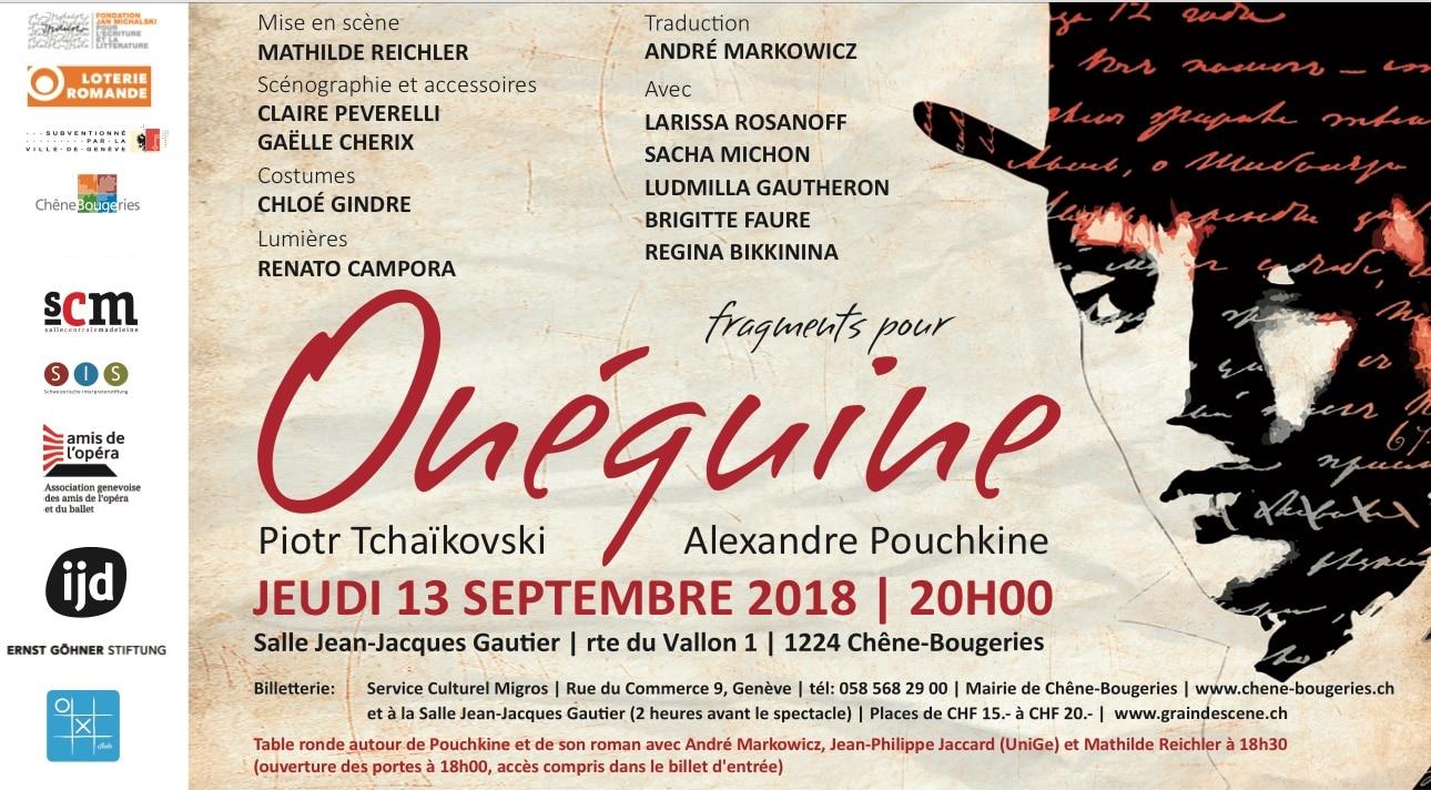 Oneguine au Théâtre Gauthier